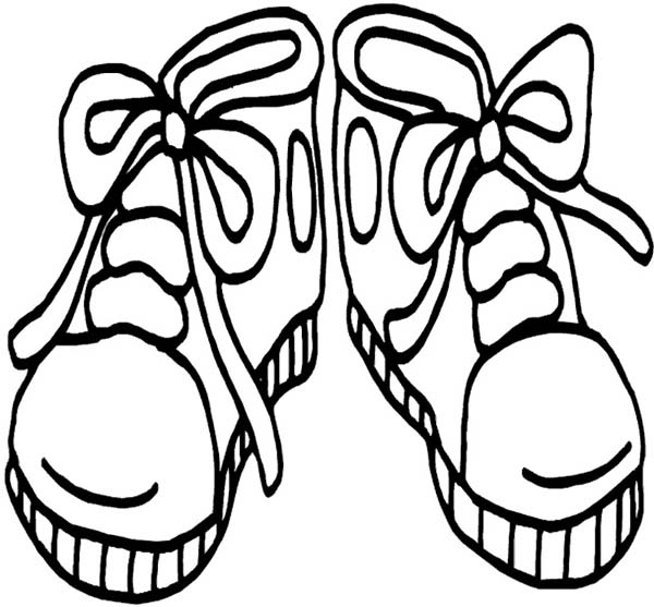 600x557 Kids Drawing Shoes Coloring Page Kids Drawing Shoes Coloring Page