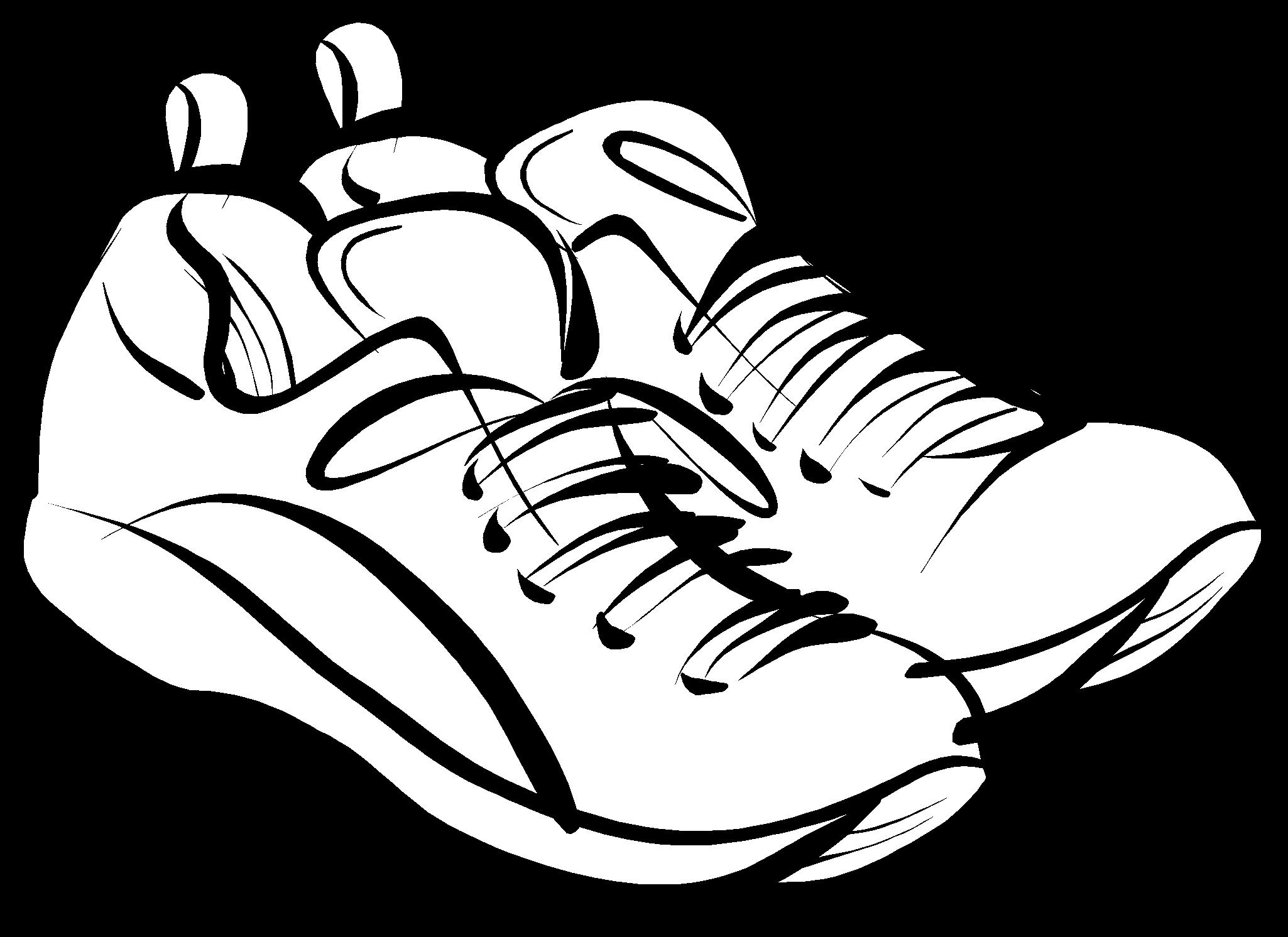 2050x1492 Kids Running Shoes Clipart