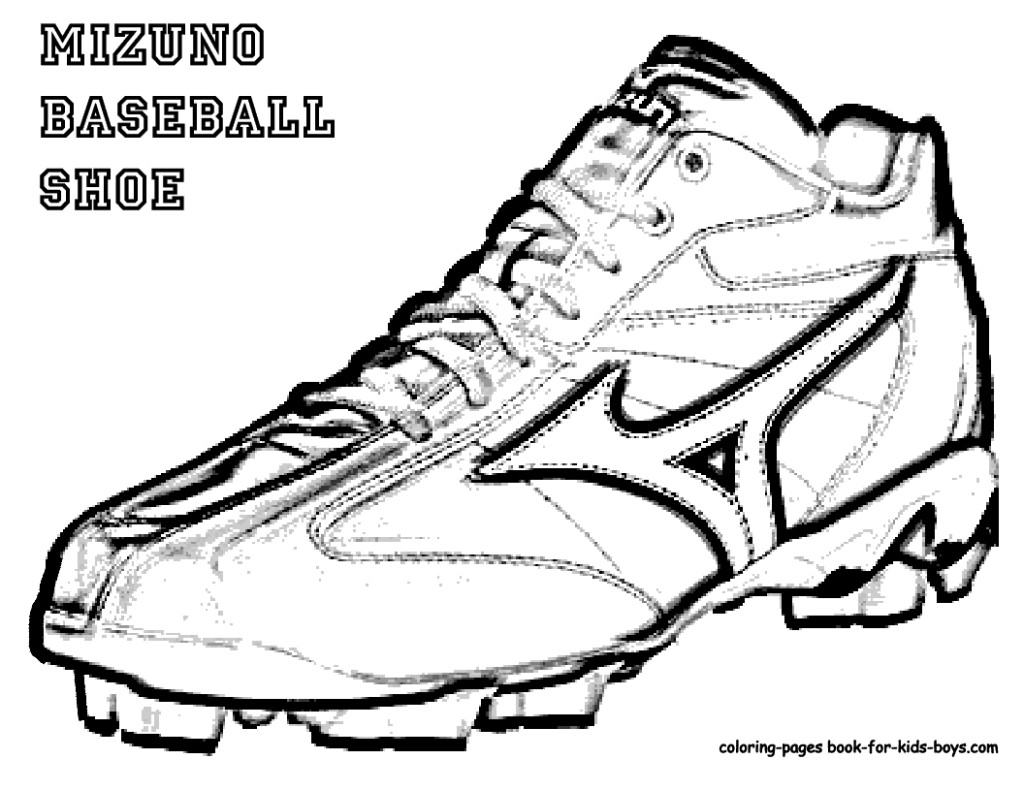 1024x791 Mizuno Baseball Shoes Colouring Books Page Coloring Pages Book