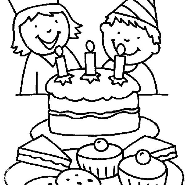 600x600 Birthday Drawing For Kids Kids Party 3 A Girls Birthday Party