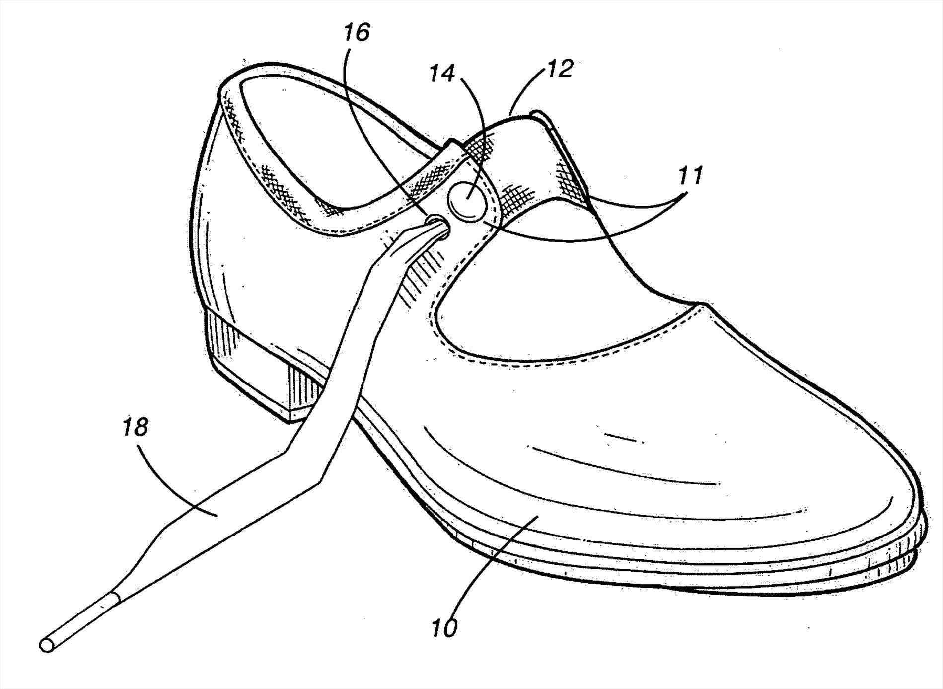 1899x1387 Tap Dancing Shoes Drawing