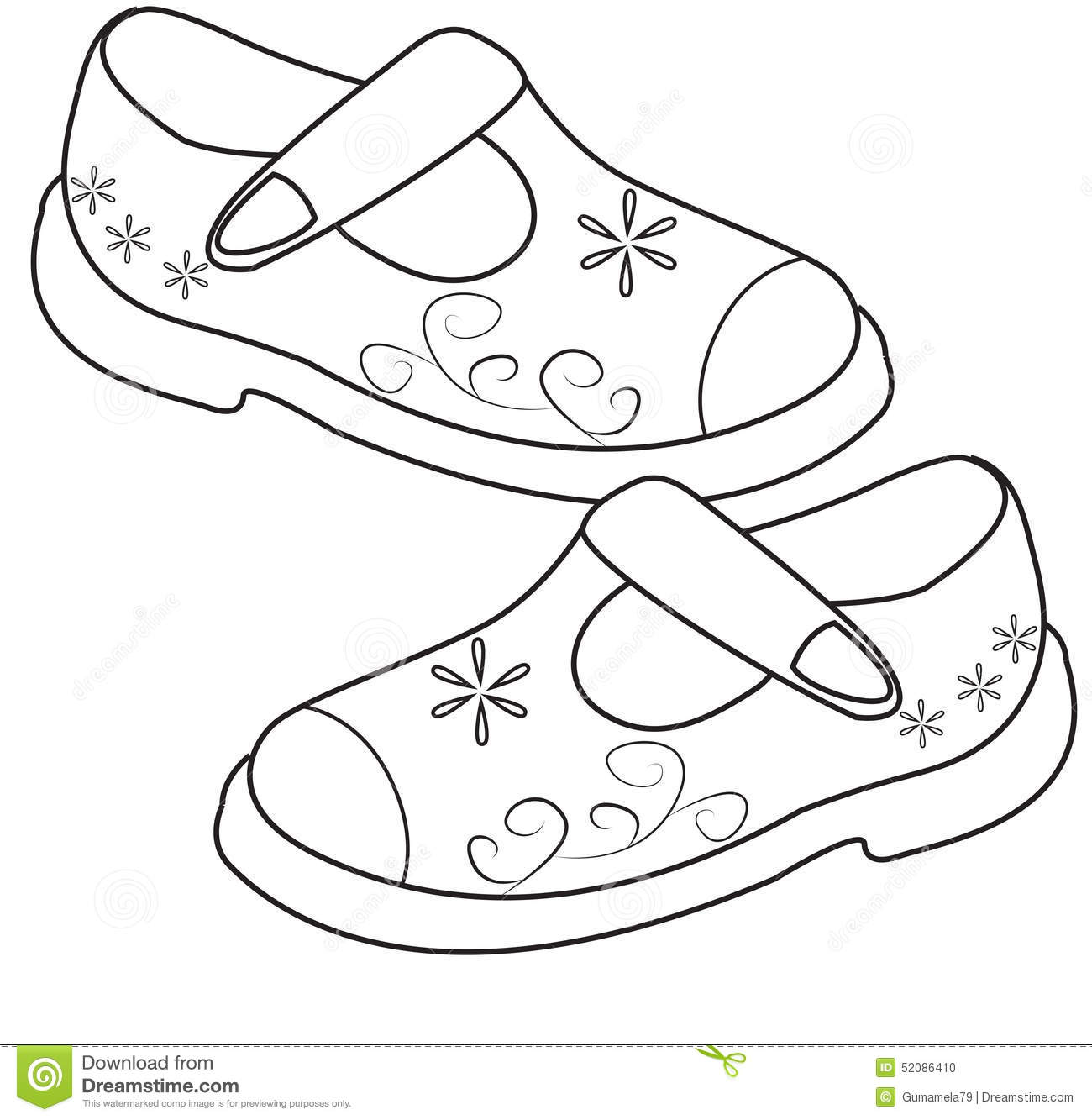 childrens coloring pages shoes - photo#18