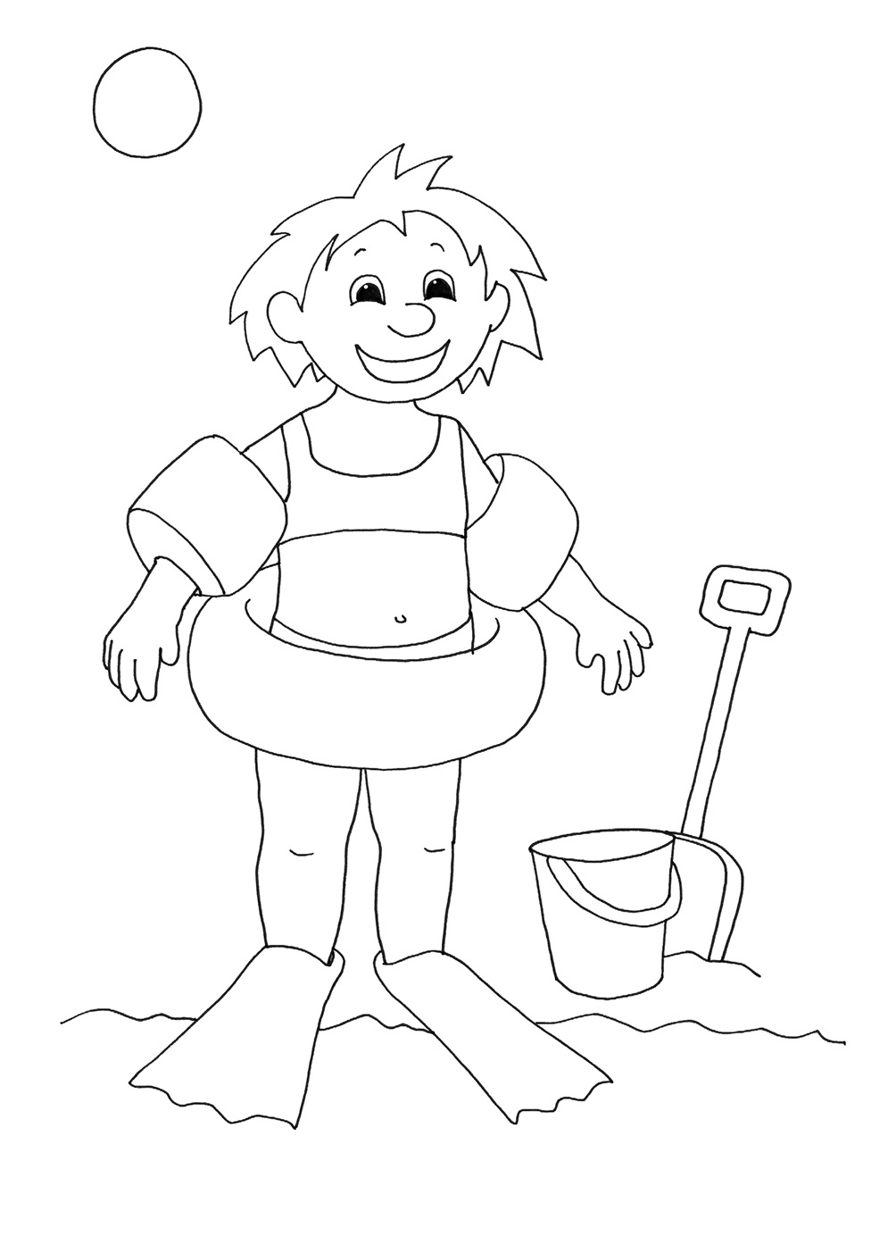 kids swimming drawing at getdrawings com free for personal use