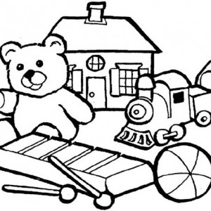 300x300 Group Of Little Kids Toys Coloring Pages Best Place To Color