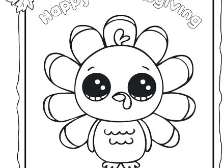 440x330 Free Thanksgiving Coloring Pages For Preschoolers Kids Turkey