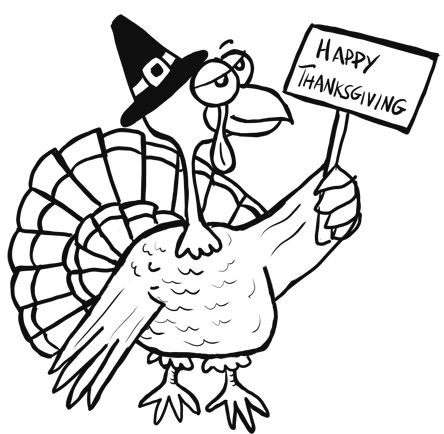 444x434 How To Draw Turkeys For Thanksgiving