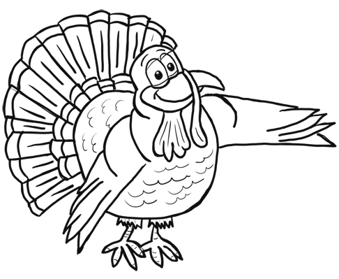 486x399 Turkey Drawings For Kids