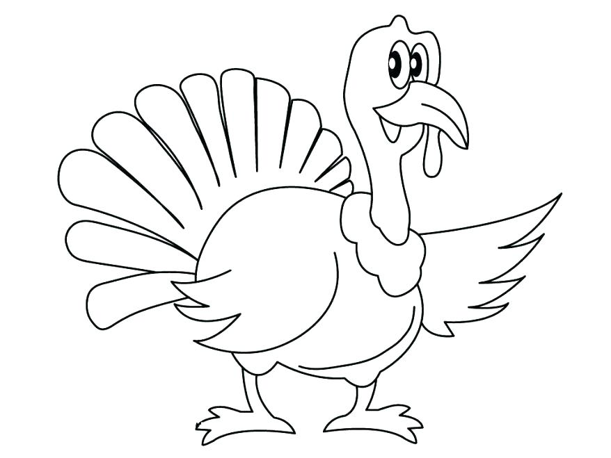 878x659 Turkey Images To Color Free Printable Thanksgiving Turkey Coloring