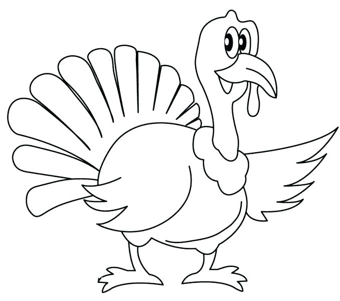 678x600 Elegant Free Turkey Coloring Pages For Preschoolers For Free