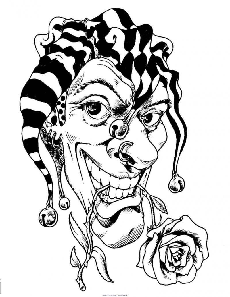 Killer Clown Drawing