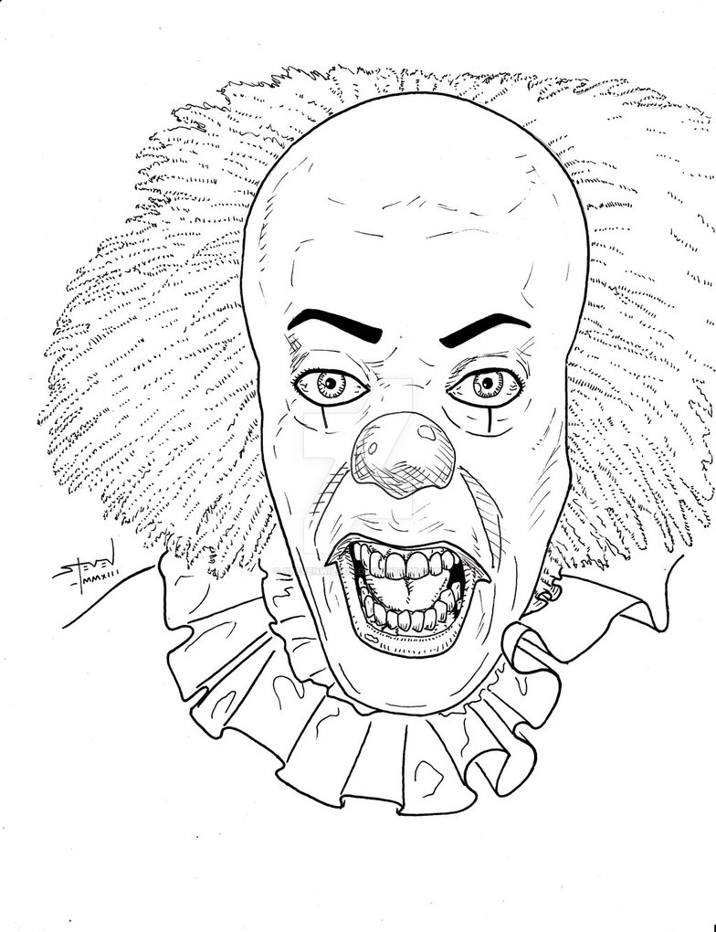 Killer Clown Drawing at GetDrawings.com | Free for personal use ...