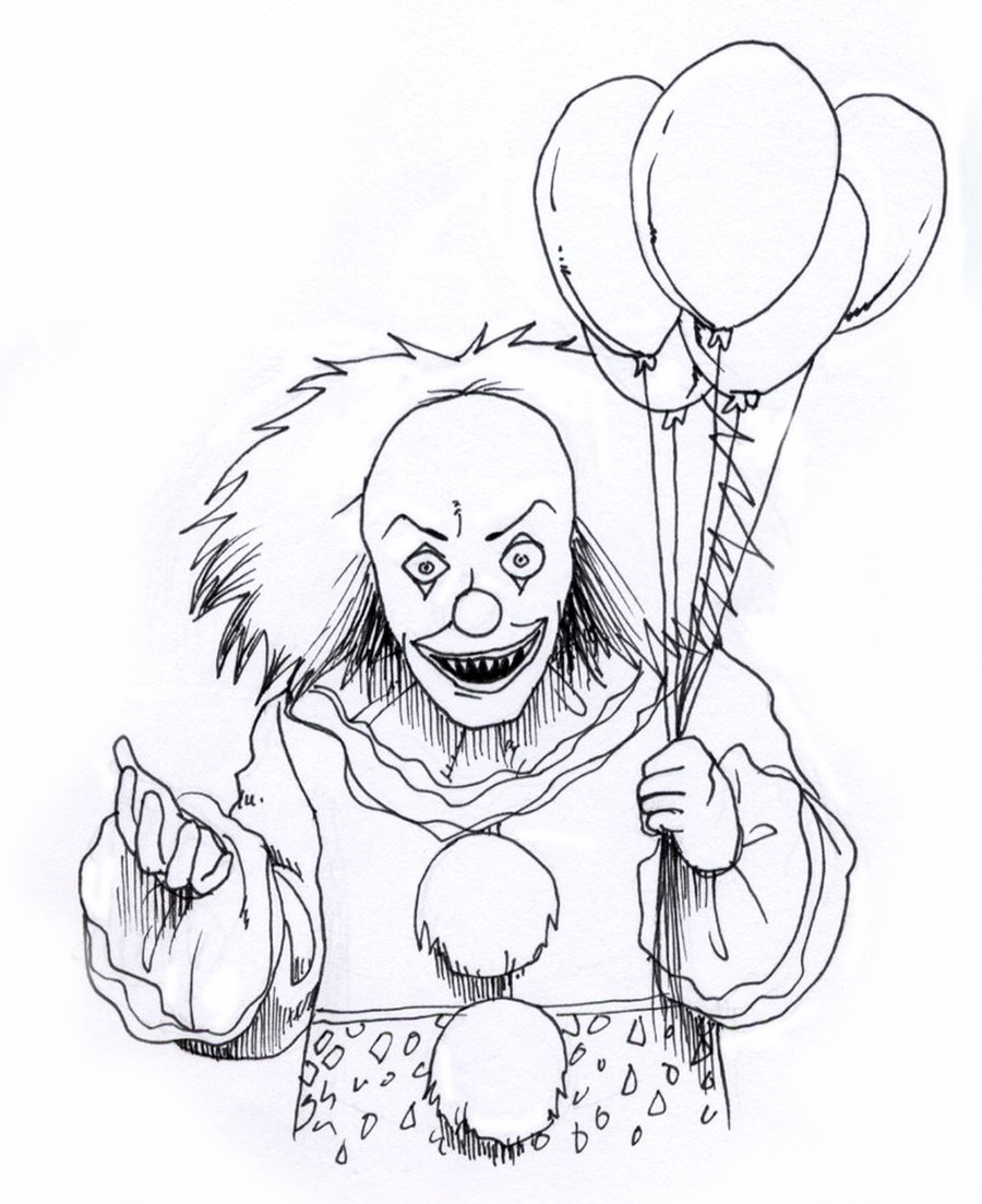 900x1103 Killer Clowns Drawings Learn To Draw