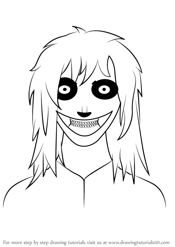 598x844 Learn How To Draw Jeff The Killer (Characters) Step By Step