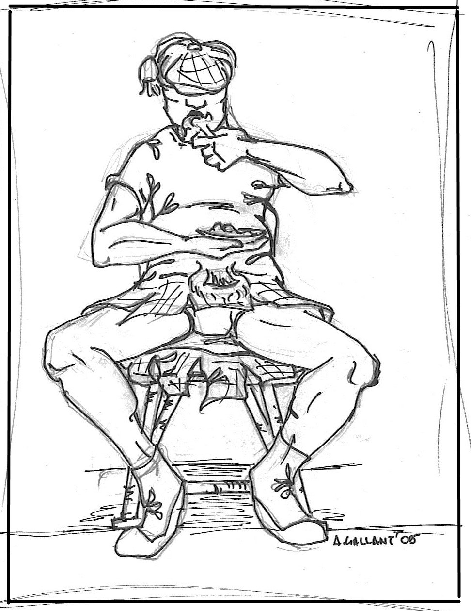 972x1259 Kilt, Food, And Folding Chair By Abitbosch