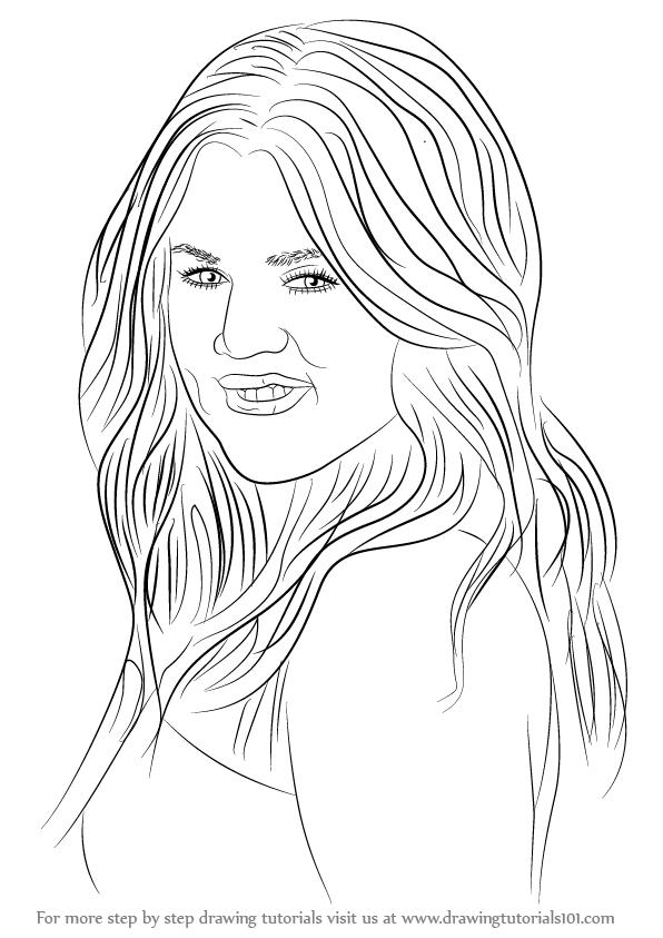 596x843 Learn How To Draw Khloe Kardashian (Celebrities) Step By Step