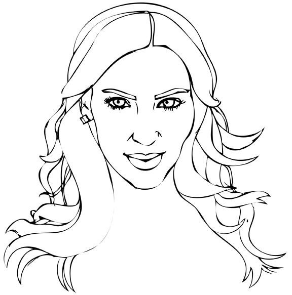 576x583 Kim Kardashian 2 By Daflln