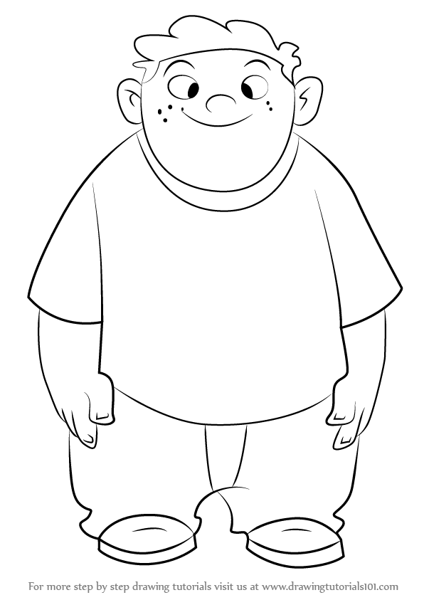 596x843 Learn How To Draw Wade From Kim Possible (Kim Possible) Step By