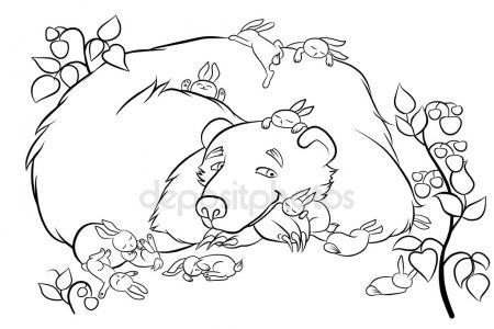 450x300 German Shepherd Pet Dog Animal Line Art Drawing Stock Vector
