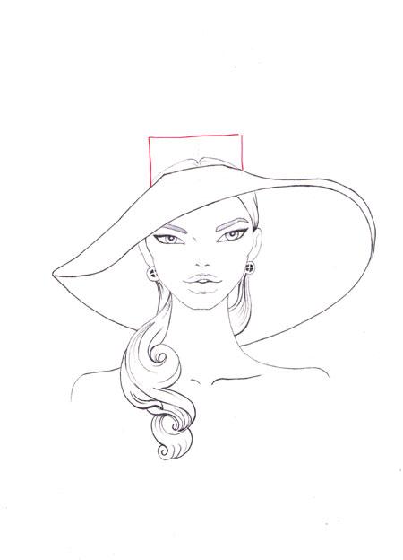 450x624 How To Draw A Hat Step 7 Fashion Sketching Fashion