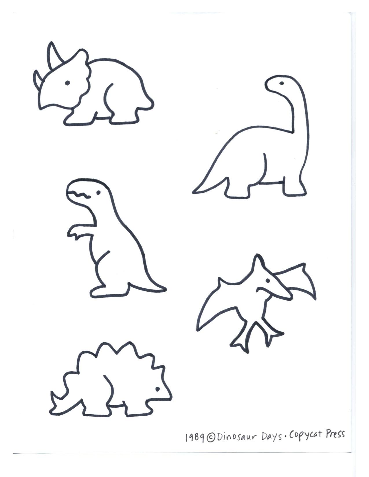 1275x1650 Dinosaurs Kindergarten Nana Intended For Simple Dinosaur Drawing