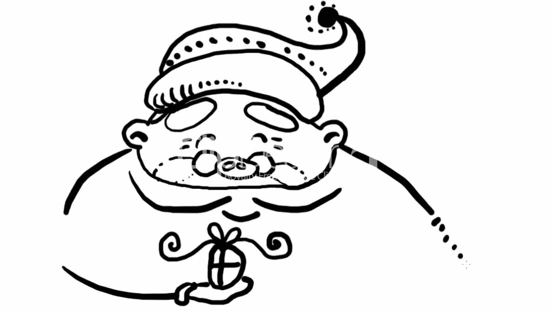 1920x1080 Drawing Of Christmas Santa Claus,hand Painting Video Material