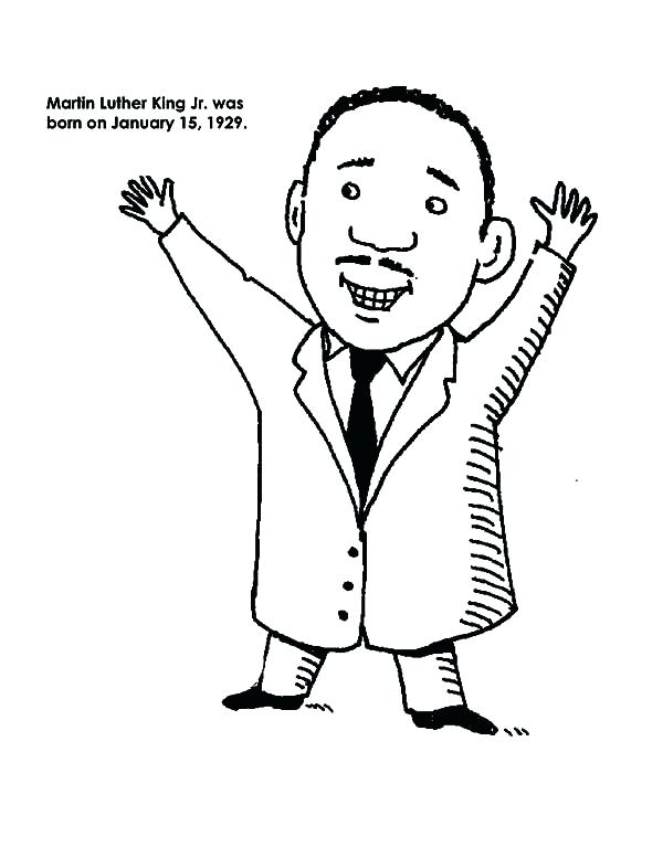600x777 Cartoon Drawing Of Martin King Jr Coloring Page Luther Pages