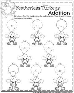 240x300 Fall Kindergarten Worksheets For November