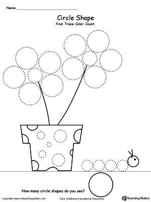 Drawing Shapes Worksheet Kindergarten