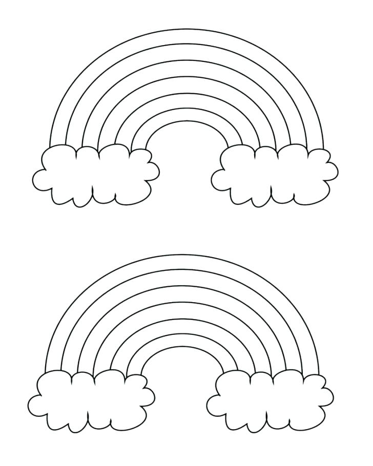 728x910 Rainbows Coloring Pages Color Pictures Of Rainbows Download