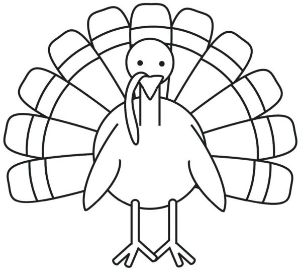 595x536 Free Turkey Coloring Pages 12 Marvellous Color In Thanksgiving
