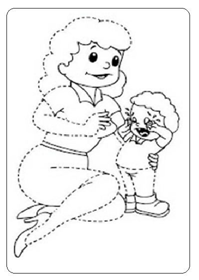 399x560 Momy And Baby Tracing Worksheet For Preschool And Kindergarten
