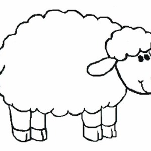 300x300 Introducing Sheep To Kindergarten Kids Coloring Page Coloring Sky