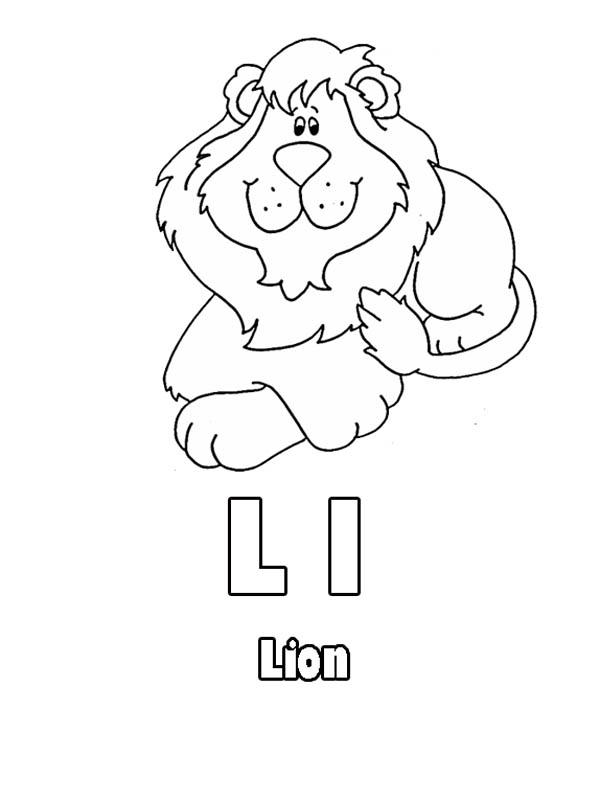 600x801 Kindergarten Kids Learning Letter L For Lion Coloring Page