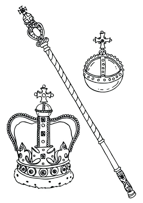 600x848 Crown Coloring Pages King And Queen Crown Coloring Pages Triple