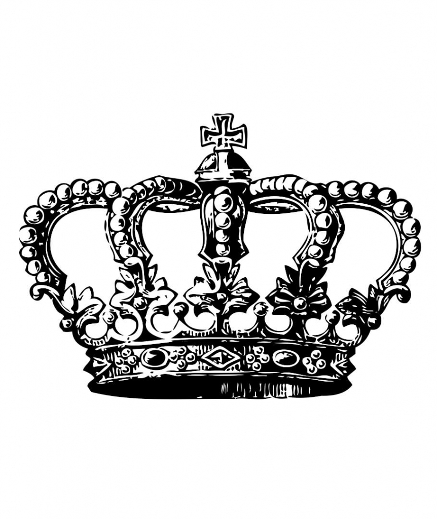 862x1024 Drawn Crown Tribal King