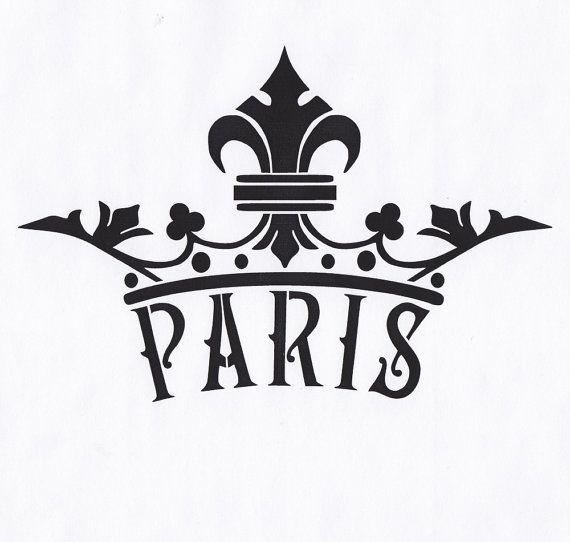 570x542 Paris Stencil Crown Fleur De Lis Queen King Royal By Thebeadsource