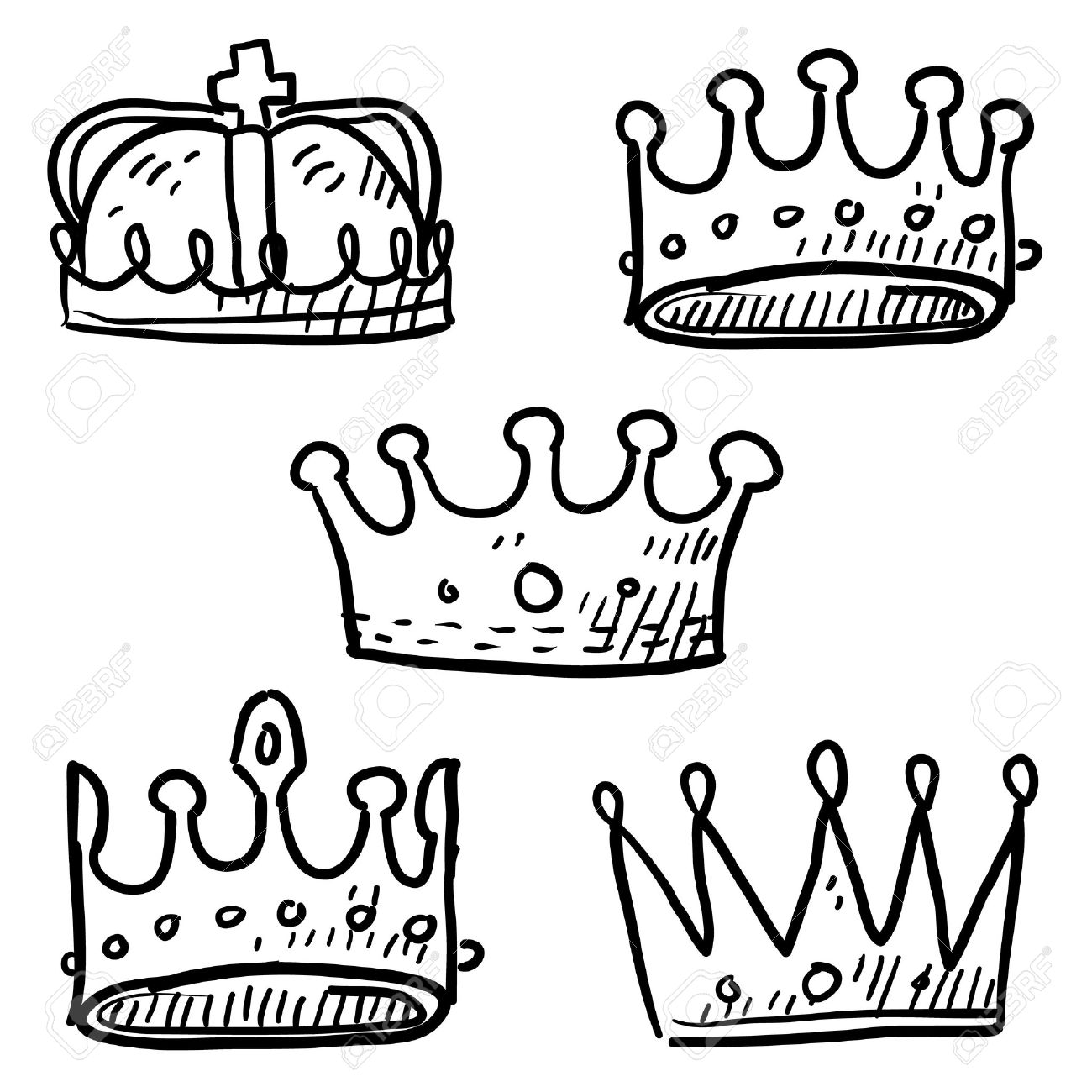 1300x1300 Royal Queen Crown Drawing