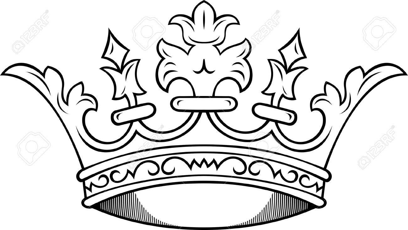 1300x733 Simple King Crown Drawing