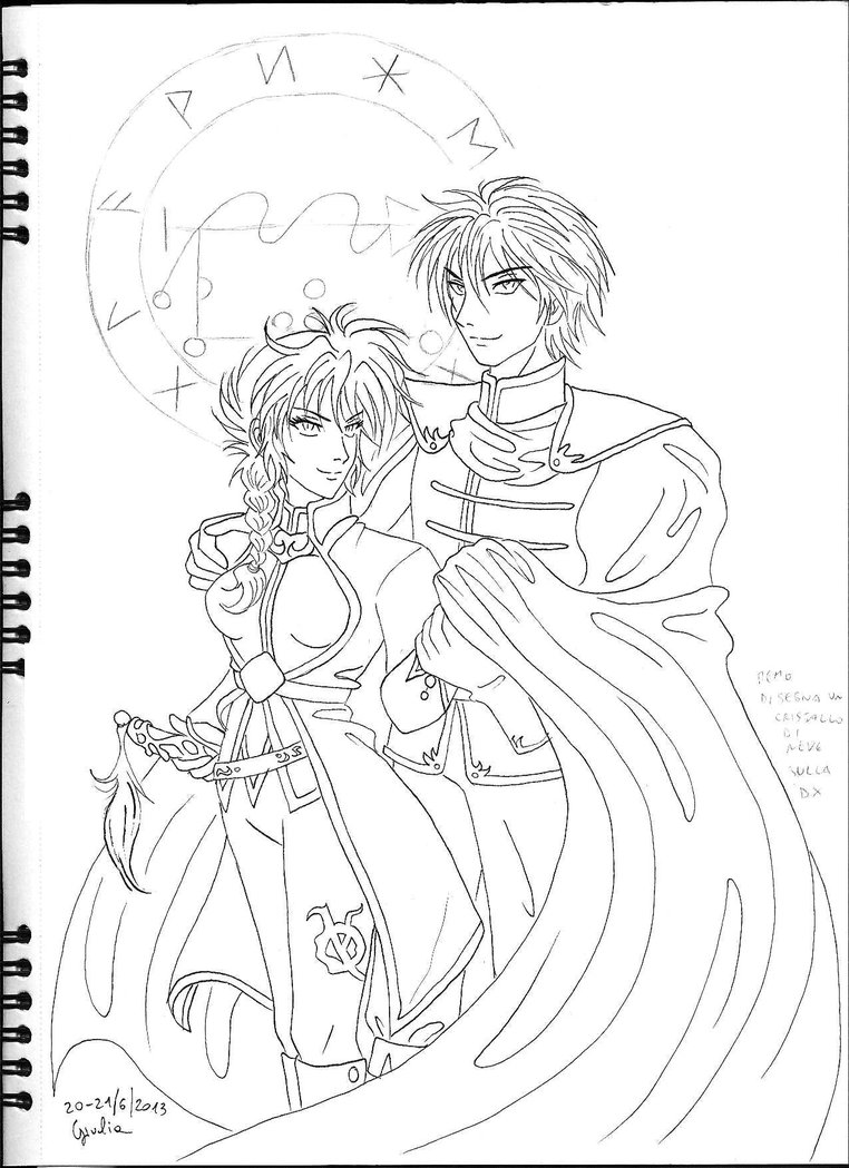 762x1049 Ice Queen And King Uncoloured By Shishiyoukai