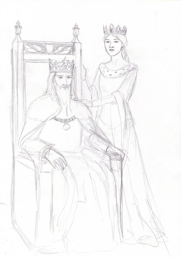 751x1063 King And Queen Sketch By Dashinvaine
