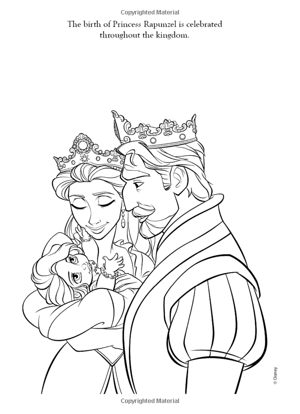 600x829 King And Queen Tangled Coloring Page Free Coloring Pages For Kids