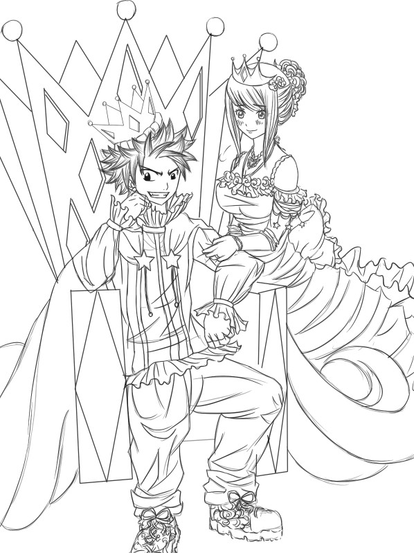 598x798 King X Queen Line Art By Chengggg