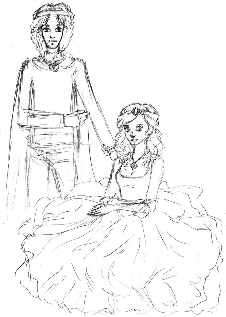755x1059 Lightning King And Queen Lucia. Sketch By Radian The Art