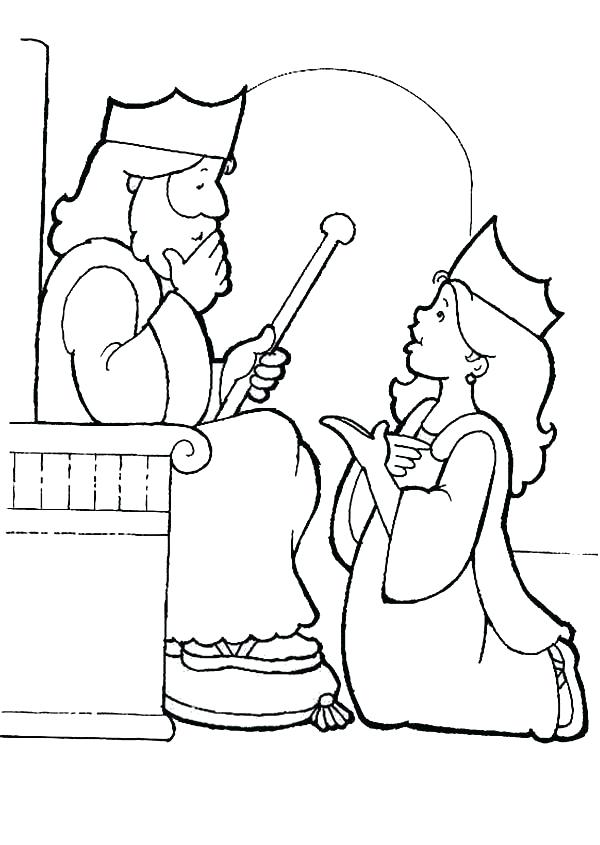 600x845 Queen Coloring Pages King Choose To Be His Queen Coloring Page