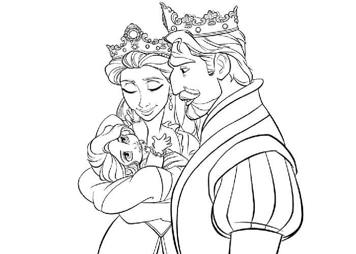 700x500 Queen Coloring Pages