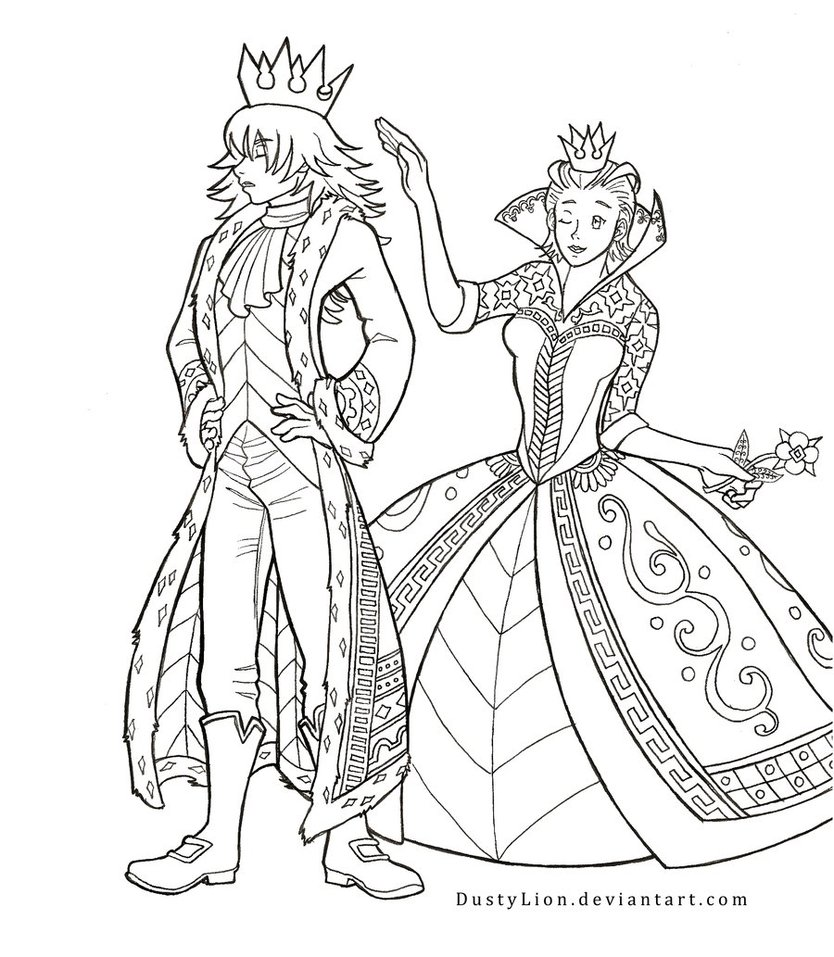 834x957 The King And Queen Of Hearts By Dustylion