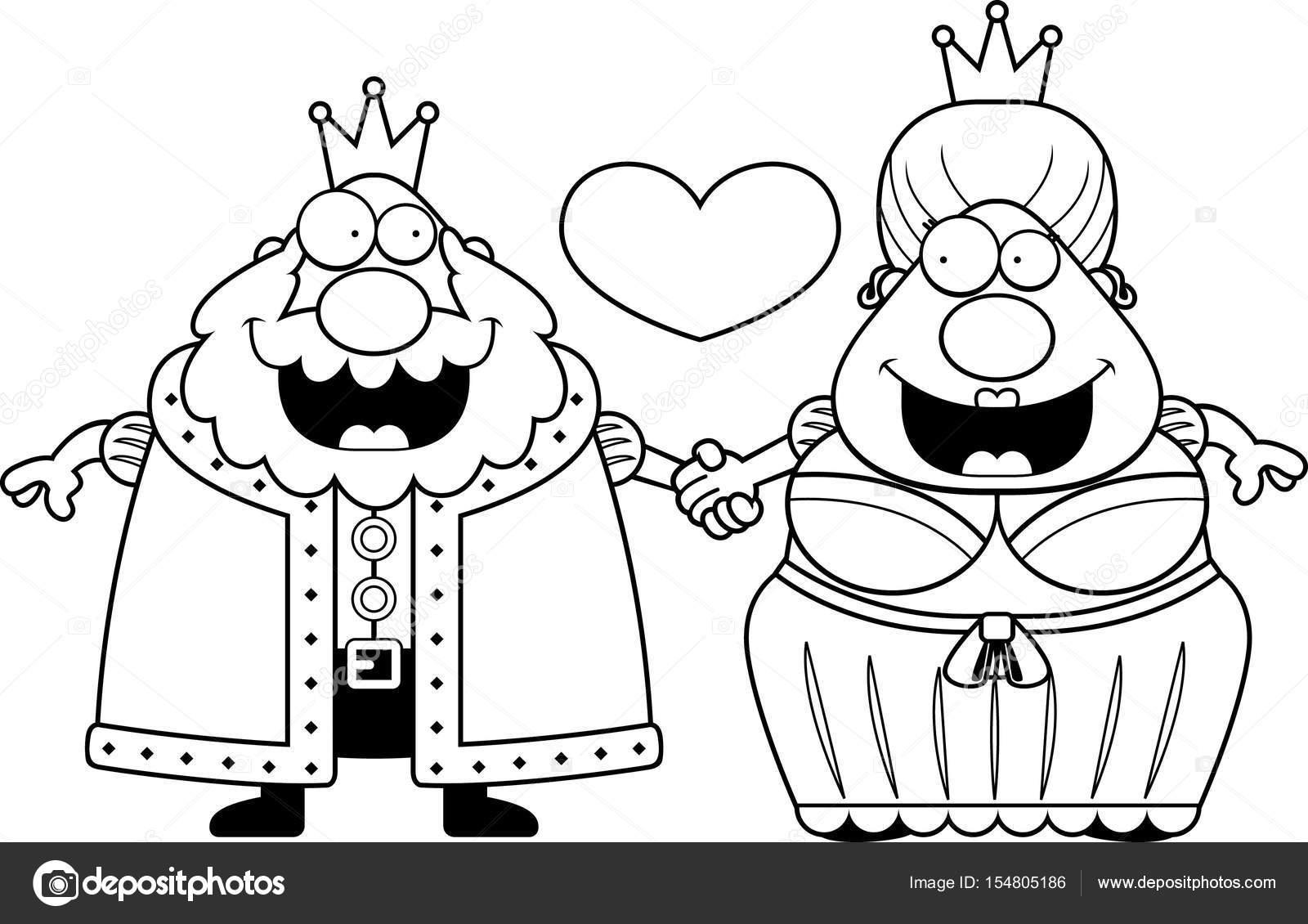 1600x1130 Cartoon King And Queen Love Stock Vector Cthoman
