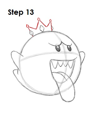 300x388 Draw King Boo Step 13 Draw King Boo, Cartoon