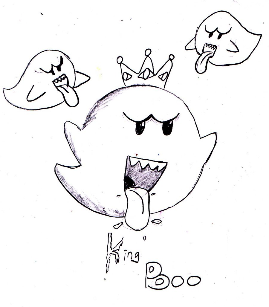 900x1027 King Boo Coloring Pages