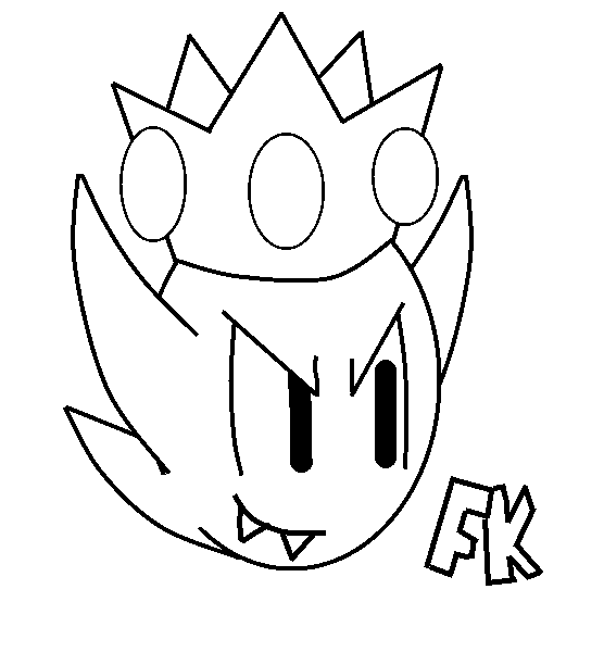 556x600 King Boo Coloring Pages